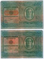 Banknote 100 Kronen Deutschösterreich 1912 Österreich-Ungarn Krone K.u.k. Note Geldschein Austria Hungary Geld Schein - Austria