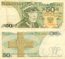 Banknote 50 Złoty Polen Polska Poland Zloty Note Geldschein PLN Złotych Schein Papiergeld Paper Money Polnisch - Polen