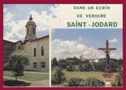 Un écrin De Verdure  SAINT-JODARD. Le Monastère Et Vue Générale. (C.P.M. - Multivues. - Voir Description.) - Frankreich