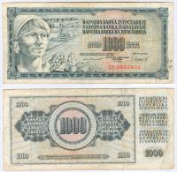 Banknote 1000 Dinar Jugoslawien Yugoslavia Jugoslavija Note Geldschein Dinarjev Papiergeld Geld Schein Paper Money - Jugoslawien