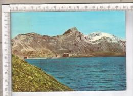 AB44245 CHAMPORCHER LAGO MISERIN SFONDO SANTUARIO NOSTRA SIGNORA DELLA NEVE MONTE DELA MONTE GLACIER - Aosta