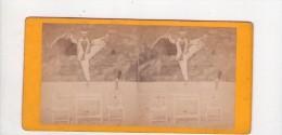 PHOTO  STEREO,  Spectacle, Cirque , équilibriste ... , Vers 1880 ? - Photos Stéréoscopiques