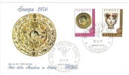 ITALIA  - EUROPA CEPT - ANNO 1976 -   FDC ROMA - 1976