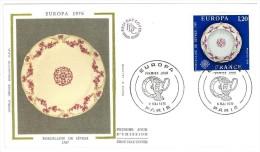 FRANCIA - EUROPA CEPT - ANNO 1976 -  2  FDC  - CON VIGNETTA IN SILK - Europa-CEPT