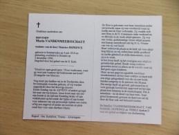 Doodsprentje Maria Vandenmeersschaut Semmersake 4/7/1919 Houtem 2/12/1996 ( Maurice Deprince ) - Religion & Esotericism