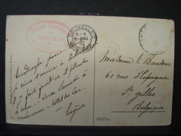 CP. 572. Trés Beau Caché Rouge Du Congrès International Des Chemins De Fer. Berne 1910. - Brieven En Documenten