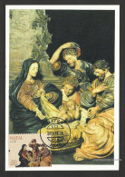 Portugal Crèche De Noël Palais De Mafra Carte Maximum 2013  Christmas Nativity Scene Mafra Palace Maxicard - Cartoline Maximum