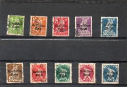 ALLEMAGNE   10 Timbres    Année 1920   Bavière     ( Oblitérés) - Bayern (Baviera)