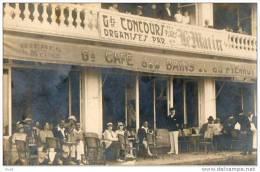 LES SABLES D´OLONNE - CAFE DES BAINS ET DU PIERROT - SUPERBE CARTE PHOTO - Sables D'Olonne