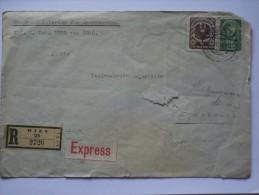 AUSTRIA 1920 REGISTERED EINSCHREIBEN EXPRESS COVER WIEN TO INNSBRUCK - Briefe U. Dokumente