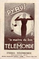 -  Dépliant Sur Les Postes De Radio PYRUS - 348 - Publicité