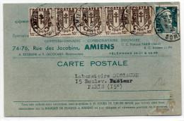 1940 - CARTE COMMERCIALE De AMIENS (SOMME) - GANDON + CHAINE BRISEE - 1921-1960: Modern Period