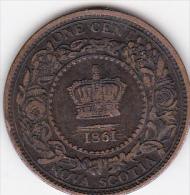 CANADA / NOVA SCOTIA .ONE CENT 1861 .VICTORIA - Canada