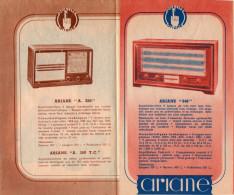 -  Dépliant Sur Les Postes De Radio ARIANE  - 352 - Publicité