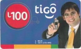 HONDURAS - Man, TIGO Prepaid Card L100, Exp.date 05/07, Used - Honduras