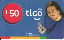 HONDURAS - Man, TIGO Prepaid Card L50, Exp.date 09/07, Used - Honduras