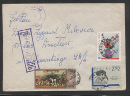 POLAND 1982 LETTER FROM WARSZAWA TO WROCLAW CENSOR MARKING STATION NO 606 - 1944-.... República