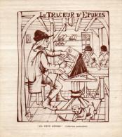 """-  PUBLICITES """" Les Vieux Métiers """" LE TRACEUR D'EPURES - 357 - Publicité"""