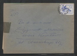 POLAND 1982 LETTER FROM WIELUN WROCLAW CENSOR MARKING STATION NO 142? - 1944-.... República