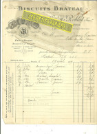 75 - Paris - PARIS - Facture ROBLOT - Biscuits BRATEAU – 1909 - REF1 - 1900 – 1949