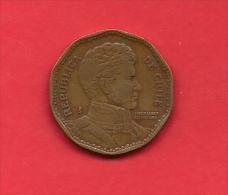 CHILE 1982, Circulated Coin XF, 50 Peso,  Alu Bronze  KM219.1 C1875 - Chile