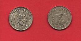 PERU, 1977, Circulated Coin XF, 5 Soles De Oro, Copper Nickel, Km267, C1878 - Peru