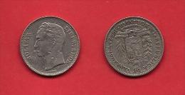 VENEZUELA, 1967, Circulated Coin XF, 1  Bolivar, Nickel, Km42, C1880 - Venezuela