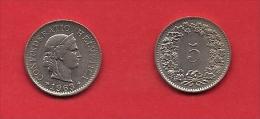 SWITZERLAND, 1955-1980,  Circulated Coin XF, 5 Rappen, Copper Nickel, KM26, C1888 - Switzerland