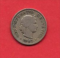 SWITZERLAND, 1882,  Circulated Coin XF, 5 Rappen, Copper Nickel, C1889 - Switzerland