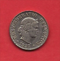 SWITZERLAND, 1937,  Circulated Coin XF, 5 Rappen, Copper Nickel,KM263, C1890 - Zwitserland