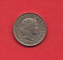 SWITZERLAND, 1951,  Circulated Coin XF, 5 Rappen, Copper Nickel,KM26, C1893 - Zwitserland