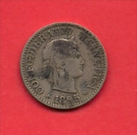 SWITZERLAND, 1895,  Circulated Coin XF, 10 Rappen, Copper Nickel, KM27, C1895 - Zwitserland