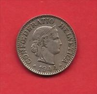 SWITZERLAND, 1944,  Circulated Coin XF, 10 Rappen, Copper Nickel, KM27, C1896 - Switzerland