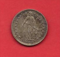 SWITZERLAND, 1946,  Circulated Coin XF,2 Francs, .835 Silver, KM21, C1899 - Switzerland