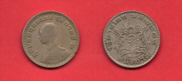 THAILAND,  1957, Circulated Coin XF, 25 Satang Alu Bronz (3 Medals) KM80, C1906 - Thailand