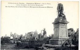 55 ENVIRONS DE VERDUN FRESNES EN WOEVRE SUR LA PLACE STATUE DECAPITEE DU GENERAL MARGUERITTE - France
