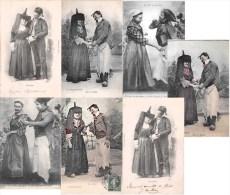 Lot De 7 Cartes SERIE Zet Et Zette - Bressan Et Bressanne - Scènes Et Types - Folklore De L' Ain / Bourg En Bresse - Francia