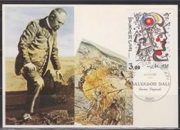 = Carte Postale Salvador Dali 1er Jour Paris 17 11 1979 N°2067 Peintre Sculpteur Graveur Scénariste Et écrivain Catalan - Other