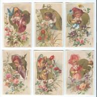 Tapioca Universel/ Femmes Fleurs /6 Chromos/Trés Beaux/ E. Fourcade/Paris /Rio De Janeiro/Vers 1885-90      IM583 - Chromos