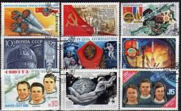 Raumfahrt Erde Satellit Kosmos Tag Der Kosmonautik Sowjetunion Heft 1/90 O 50€ Raumschiff Book Space Set Of USSR CCCP SU - Timbres