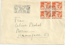 """Sonderstempel  """"450 Jahre Basel Im Bund""""             1951 - Svizzera"""