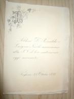 VOGHERA - PAVIA 25 OTTOBRE 1899 - ANNUNCIO MATRIMONIO ALDINI - NICOLI - Annunci Di Nozze