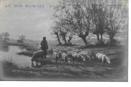 AU BON MARCHE - Salon Des Artistes Français 1914 - Félix PLANOUETTE - Le Troupeau - Publicité