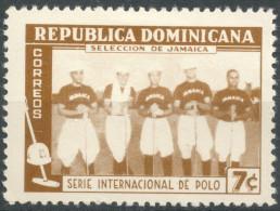 Dominican Republic 1959  Jamaica Polo Team  7c   MH   Scott 510 - Dominican Republic
