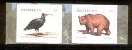 AUSTRIA 2006 Bald Ibis & Brown Bear MNH Self-adhesive Pair- Mi. Nr. 2622-2623 / ANK Nr. 2650-2651 / Scott No. 2071-2072 - 1945-.... 2nd Republic
