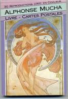 ILLUSTRATEUR    / MUCHA /  LIVRE 30 CARTES POSTALES  ED.BOOKING INTERNATIONAL 1990  CPM / CPSM  10 X 15 - Mucha, Alphonse