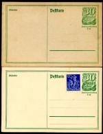DR  P 140 I  2 Postkarten  **  1921  Kat. 5,00 € - Deutschland