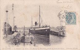 """Al - Cpa LE HAVRE - Le Steamer """"Le Sinaï"""" Des Messageries Maritimes Entrant Au Bassin De L'Eure (précurseur) - Le Havre"""