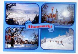 Postcard Austria, Altenmarkt, Used With Stamps - Altenmarkt Im Pongau