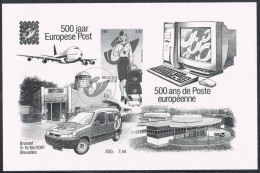 Année 2001 - ZNE10 - (BL91 (3001)) Belgica 2001  - 500 Ans Poste Européenne - Cote 12,00€ - Blocks & Kleinbögen Schwarz